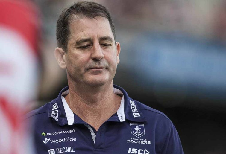Ross Lyon's Fremantle was headed in the right direction