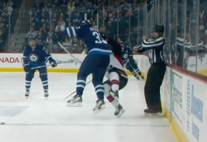 WATCH: NHL star broken in two by beautiful, brutal hit