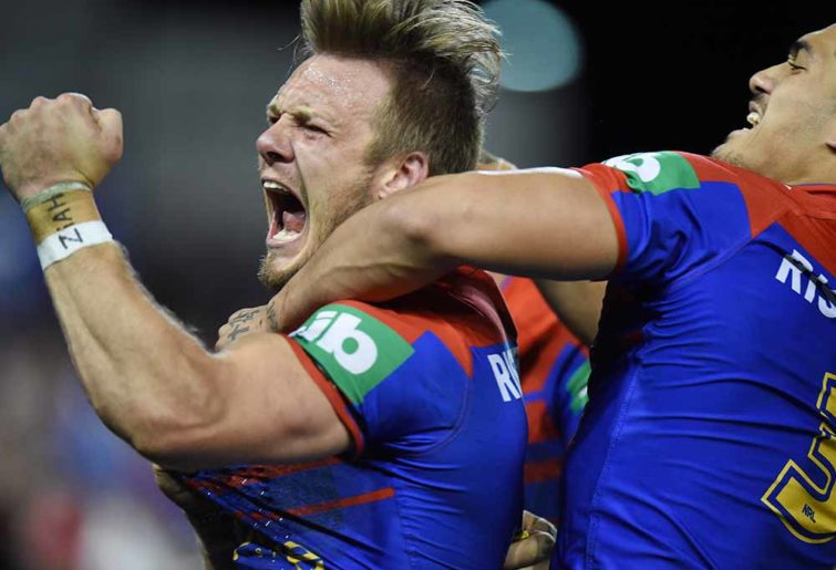 Nathan Ross for the Newcastle Knights