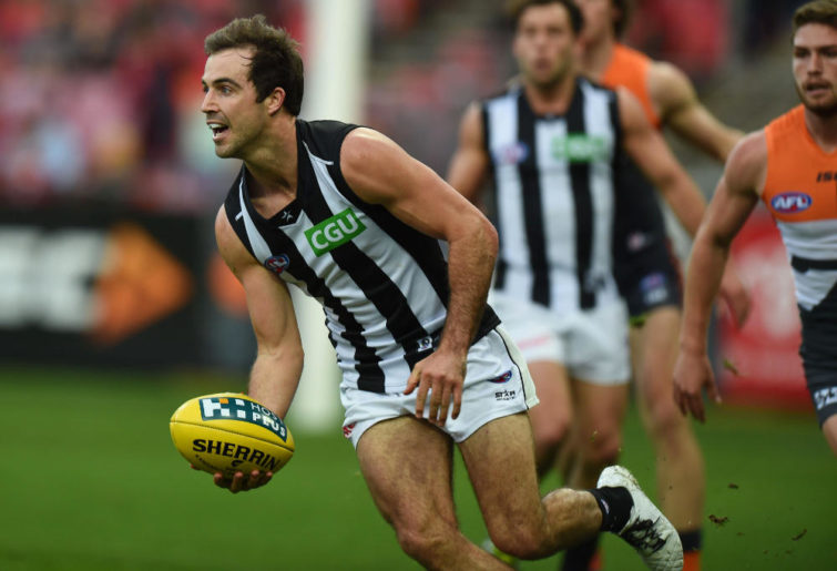 Steele Sidebottom Collingwood Magpies AFL 2014