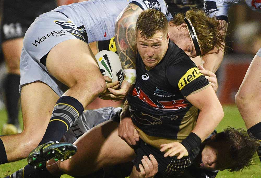 Panthers' Trent Merrin looking strong