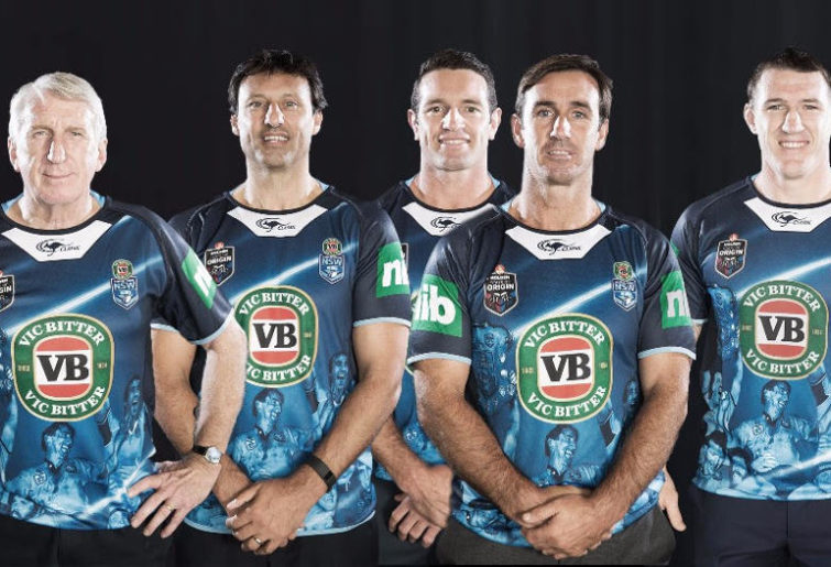 Steve Mortimer, Laurie Daley, Danny Buderus, Andrew Johns and Paul Gallen