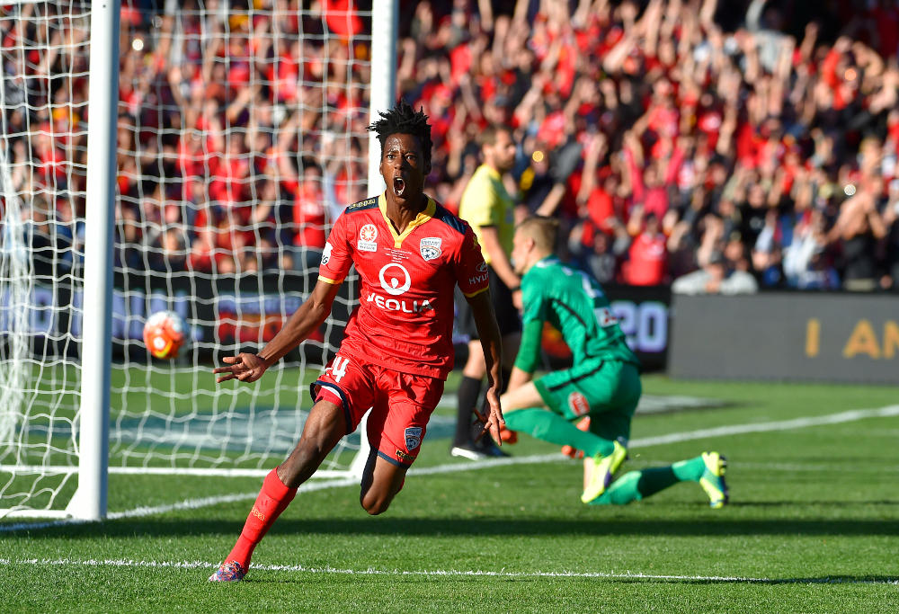 Bruce Kamau Adelaide United Reds A-League Grand Final Football 2016