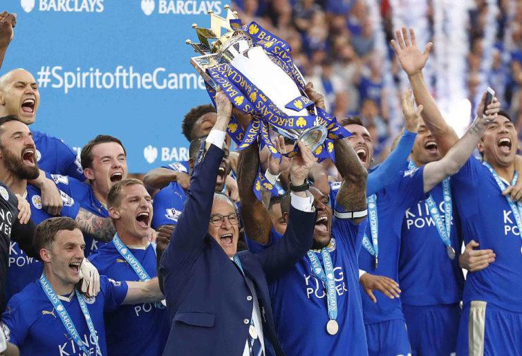 Leicester City English Premier League trophy 2016