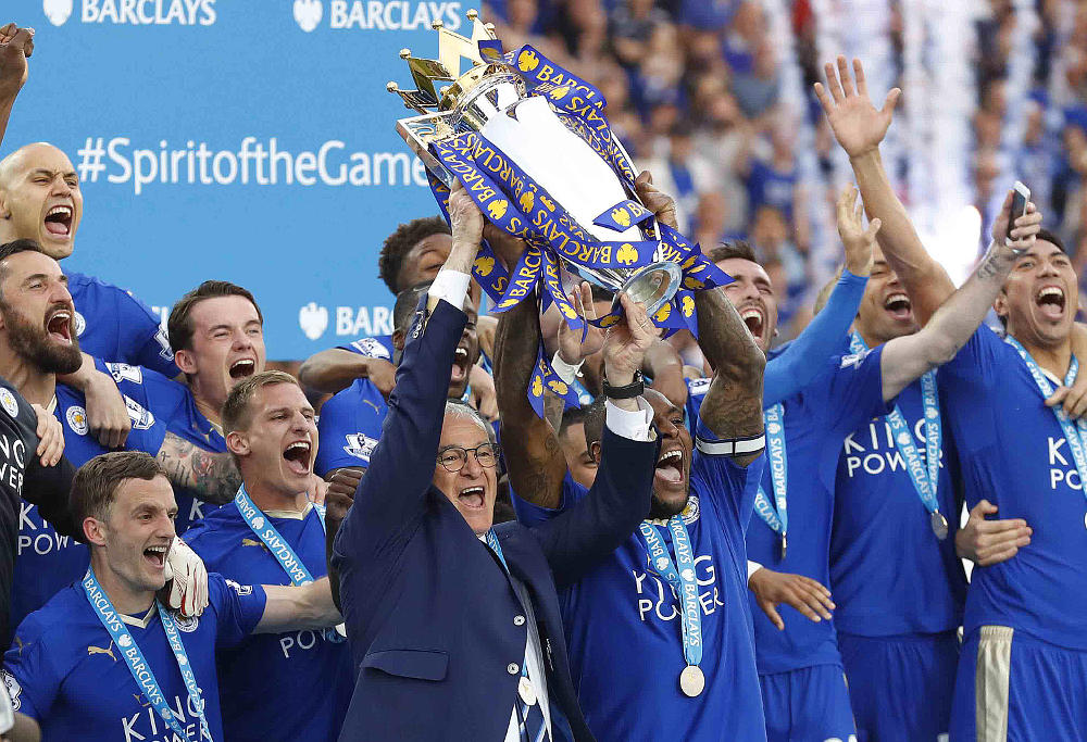 Leicester City English Premier League trophy 2016