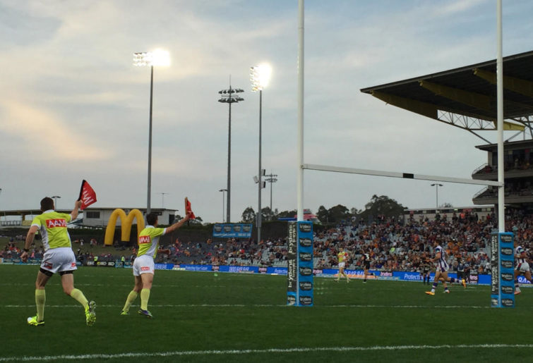 NRL touch judges wave successful conversion at Campbelltown