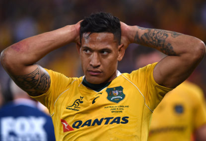 Hunt feels for Tahs, Wallabies mate Folau