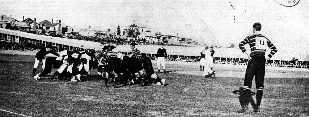 Queensland playing against England in 1899