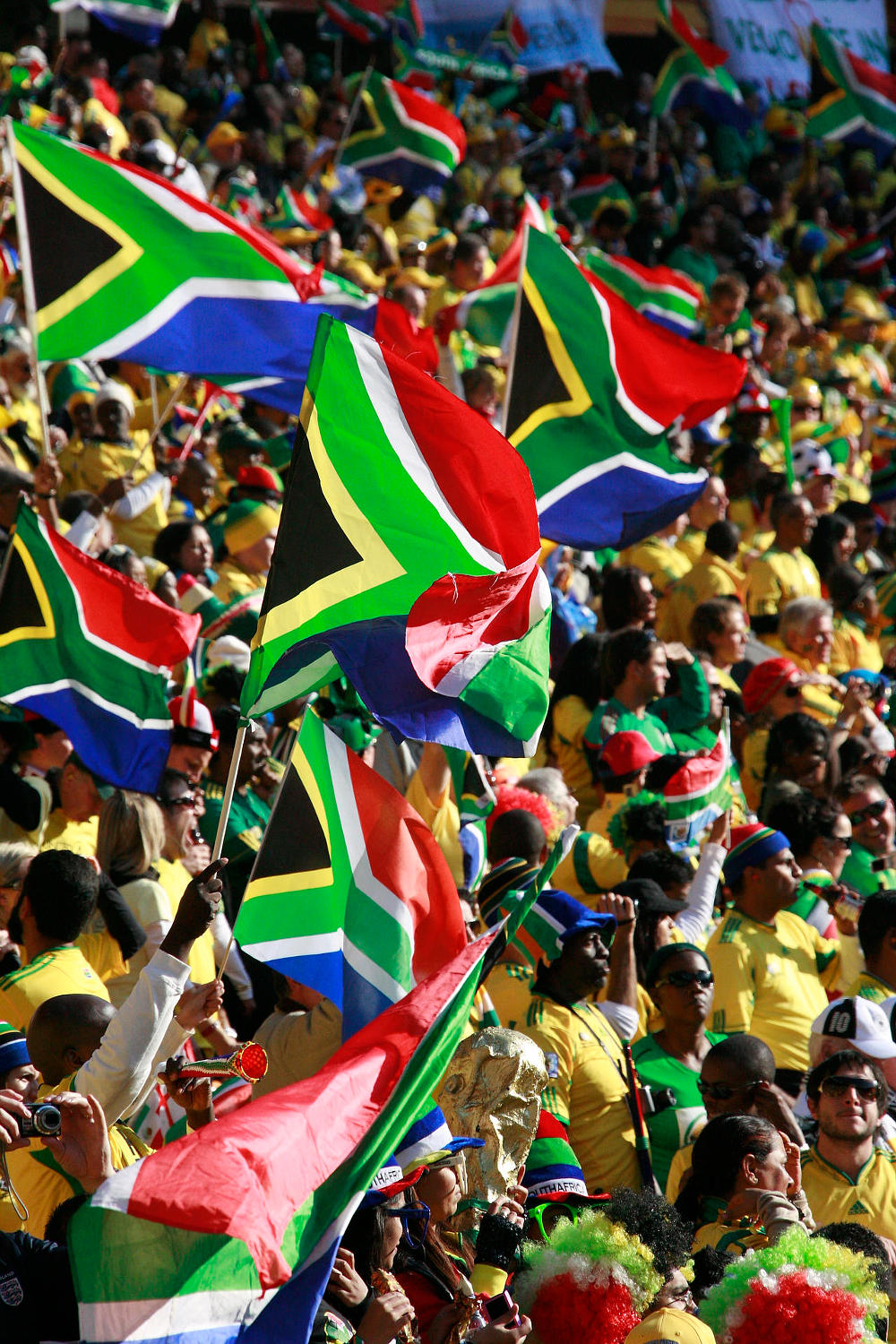 South African fans celebrate