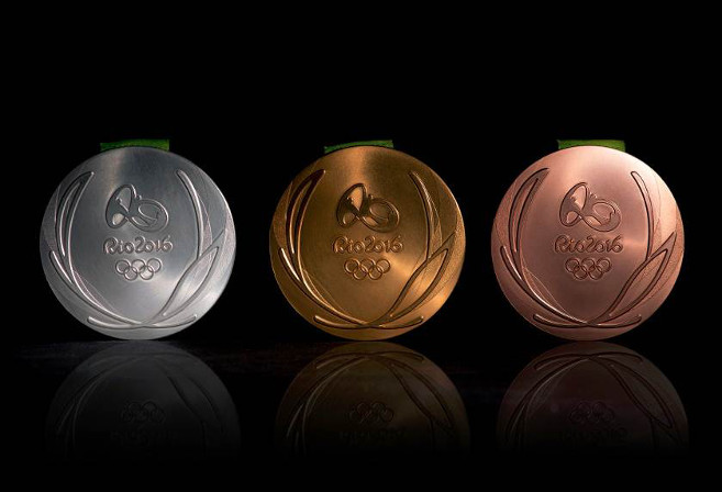 Silver, gold and bronze medals from Rio 2016