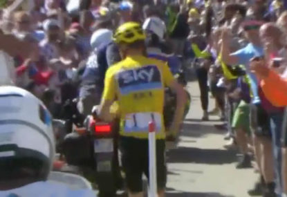 WATCH: Porte and Froome involved in bizarre Tour de France stage finish