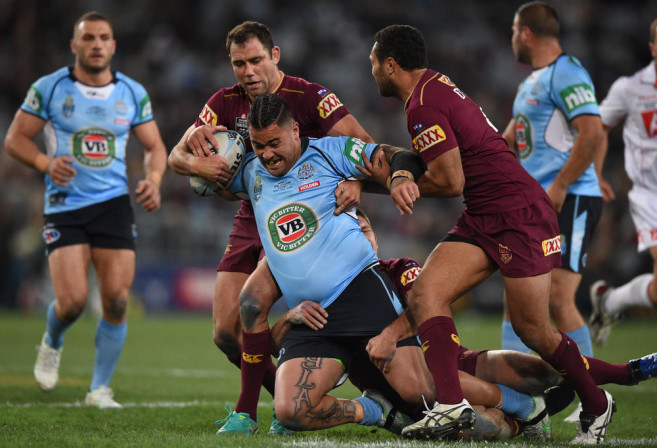 Andrew Fifita is tackled