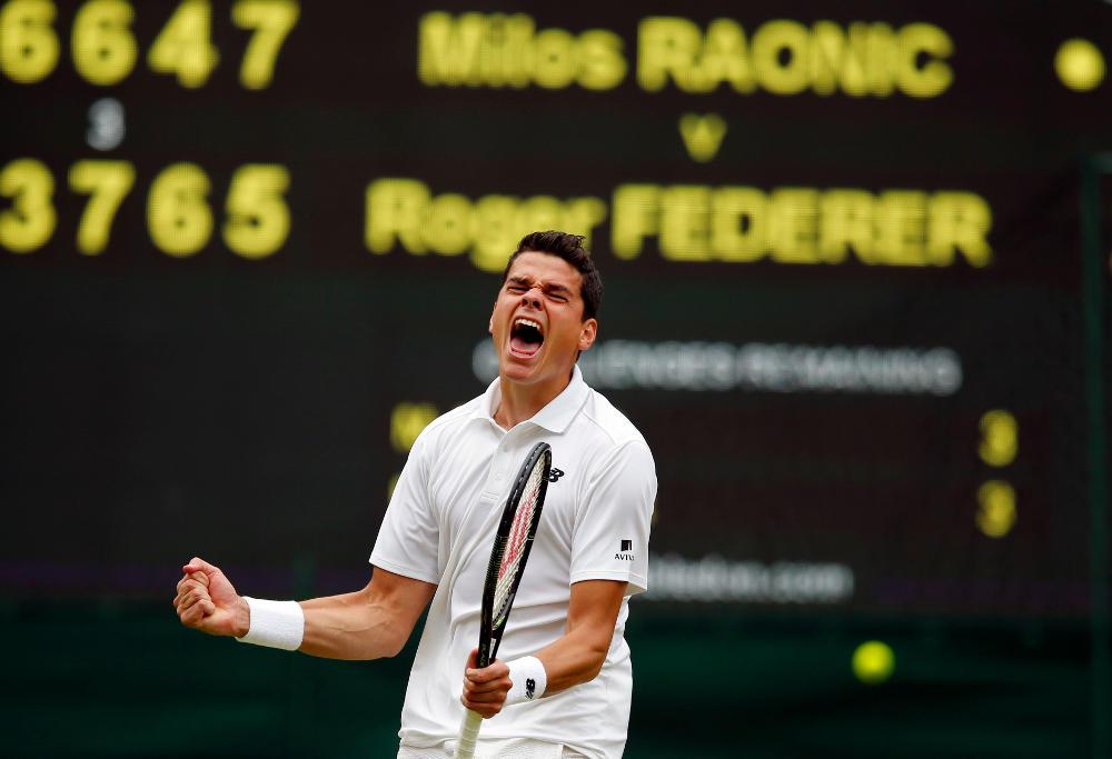 Milos Raonic Tennis Wimbledon 2016