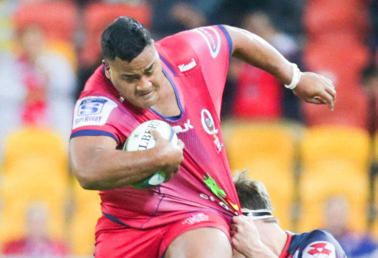 Taniela Tupou Reds running against the Rebels