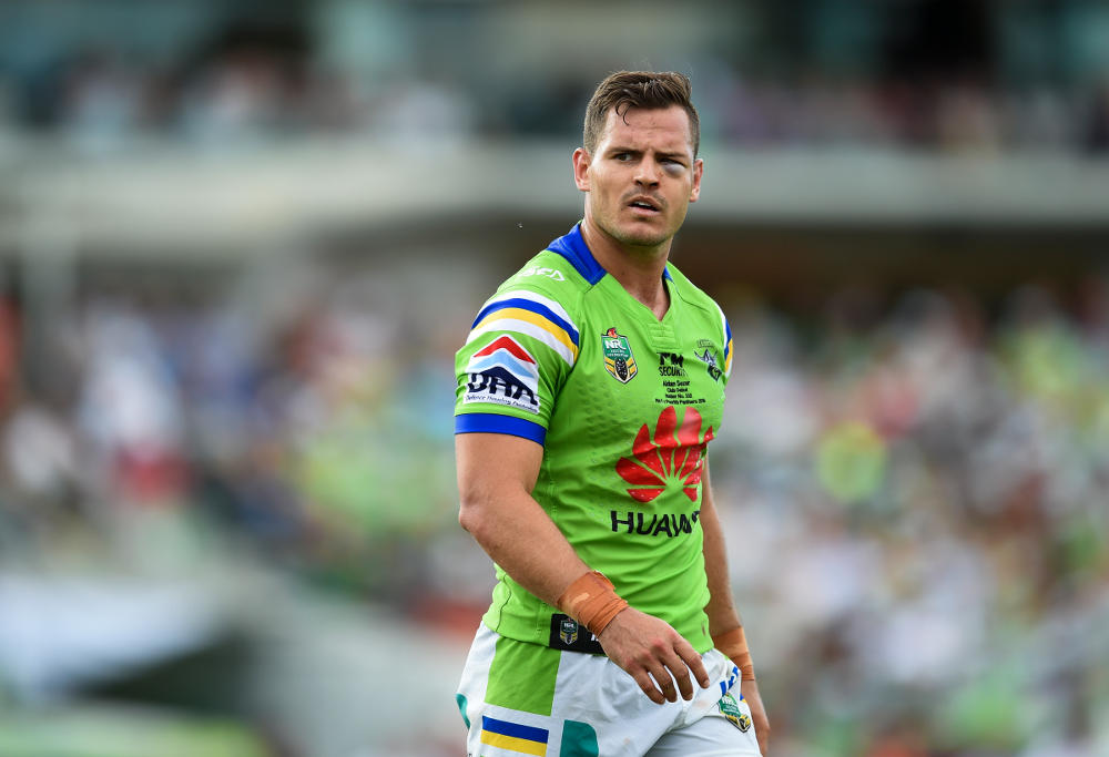 Aidan Sezer Canberra Raiders NRL Rugby League 2016
