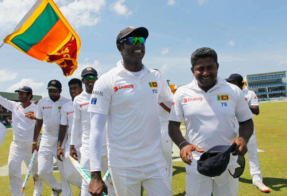Angelo Mathews Sri Lanka Test Cricket 2016