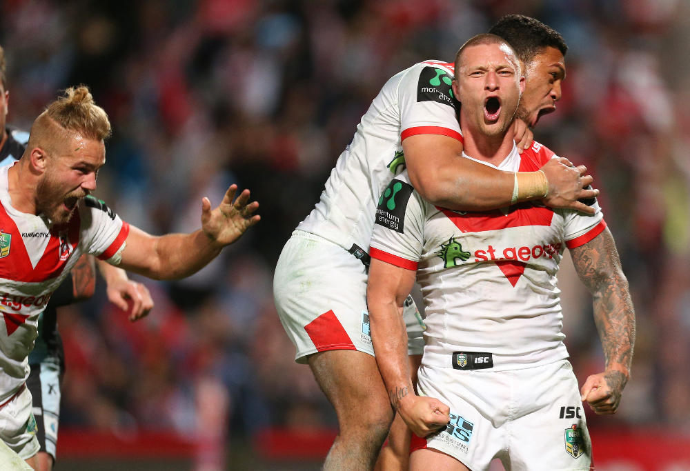 Tariq Sims St George Illawarra Dragons NRL Rugby League 2016