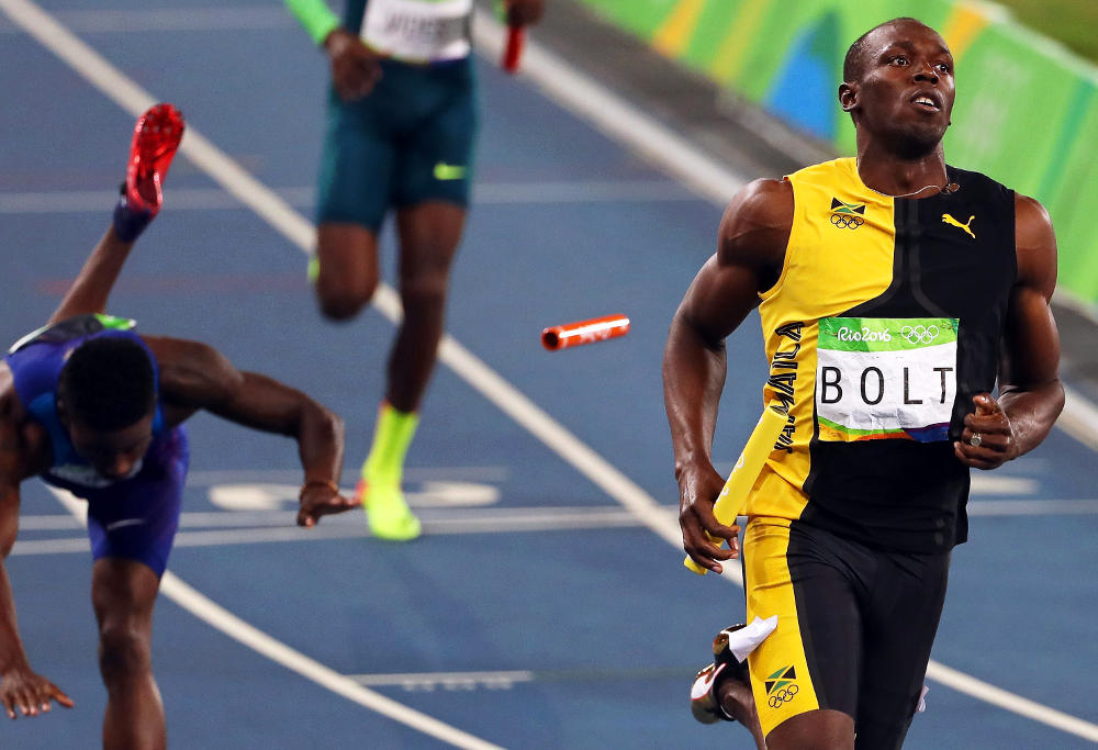 Usain Bolt men's 4x100m relay Rio 2016 Olympic Games Athletics