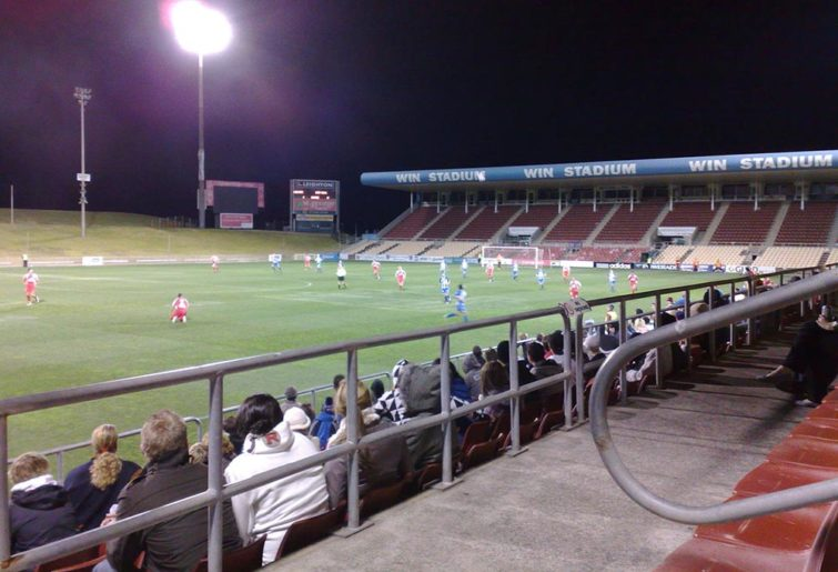 WIN Stadium at night