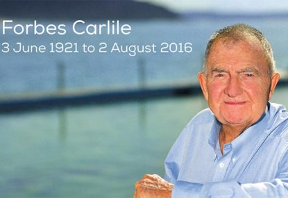 Swim coach and Australia's oldest Olympian Forbes Carlile dies, aged 95