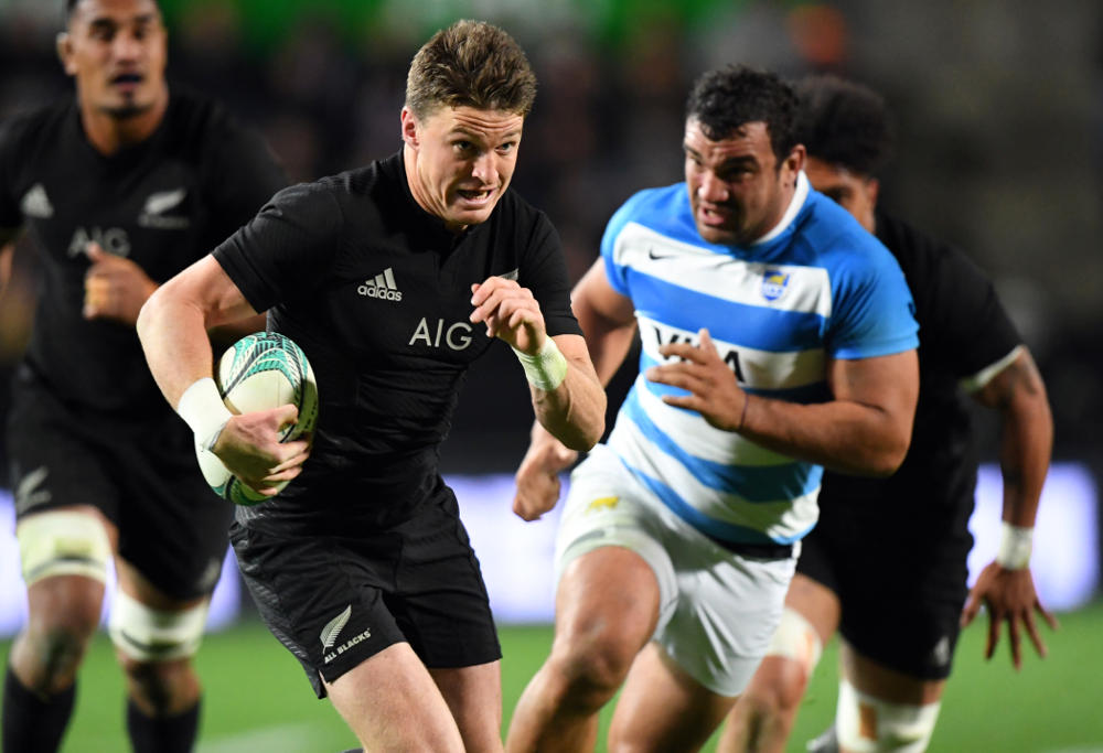 Beauden Barrett All Blacks New Zealand Rugby Union Test Championship 2016