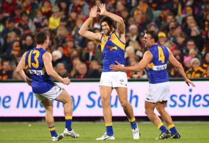 Eagles own the West, downing Dockers in Derby 45