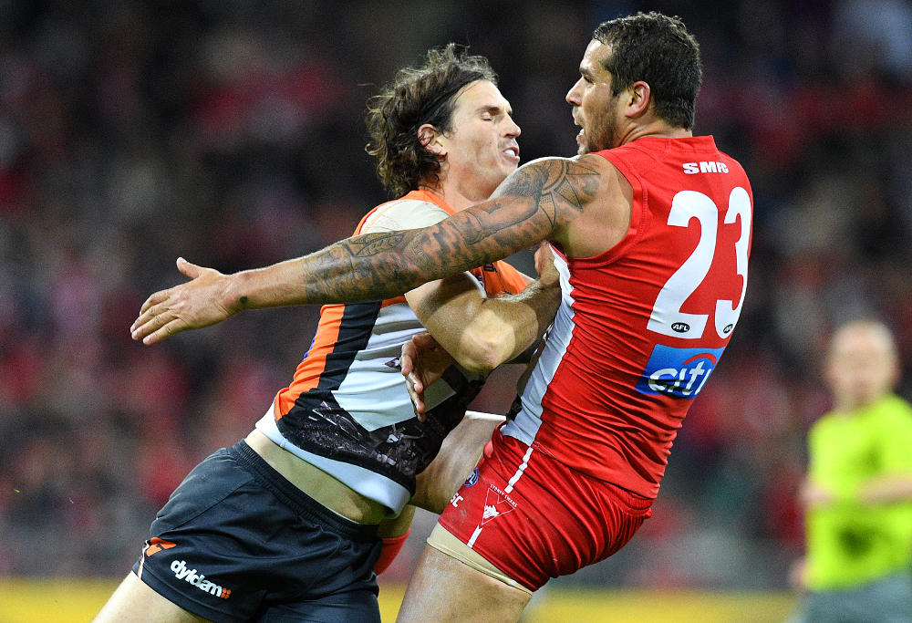 Phil Davis GWS Giants Lance Franklin Sydney Swans AFL 2016