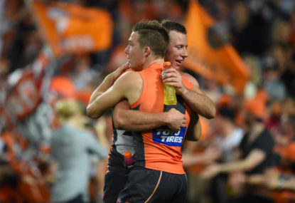 Sydney man doesn't remember his friend being such a big fan of the GWS Giants