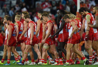 Swans in crisis: Tippett, Mills ruled out of semi-final
