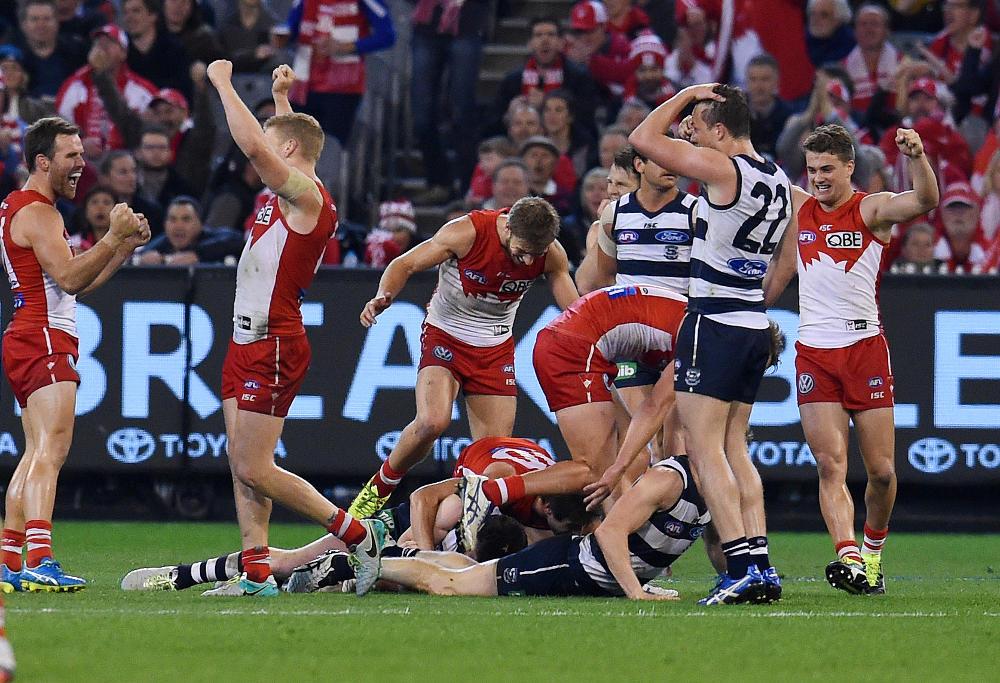 Sydney Swans Geelong Cats AFL Finals 2016