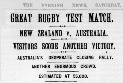 The headlines following the first Test between Australia and New Zealand. Image: The Evening News