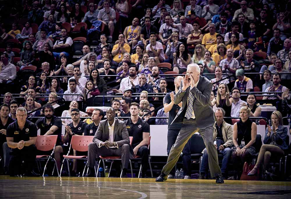 Andrew Gaze looking on for the Kings