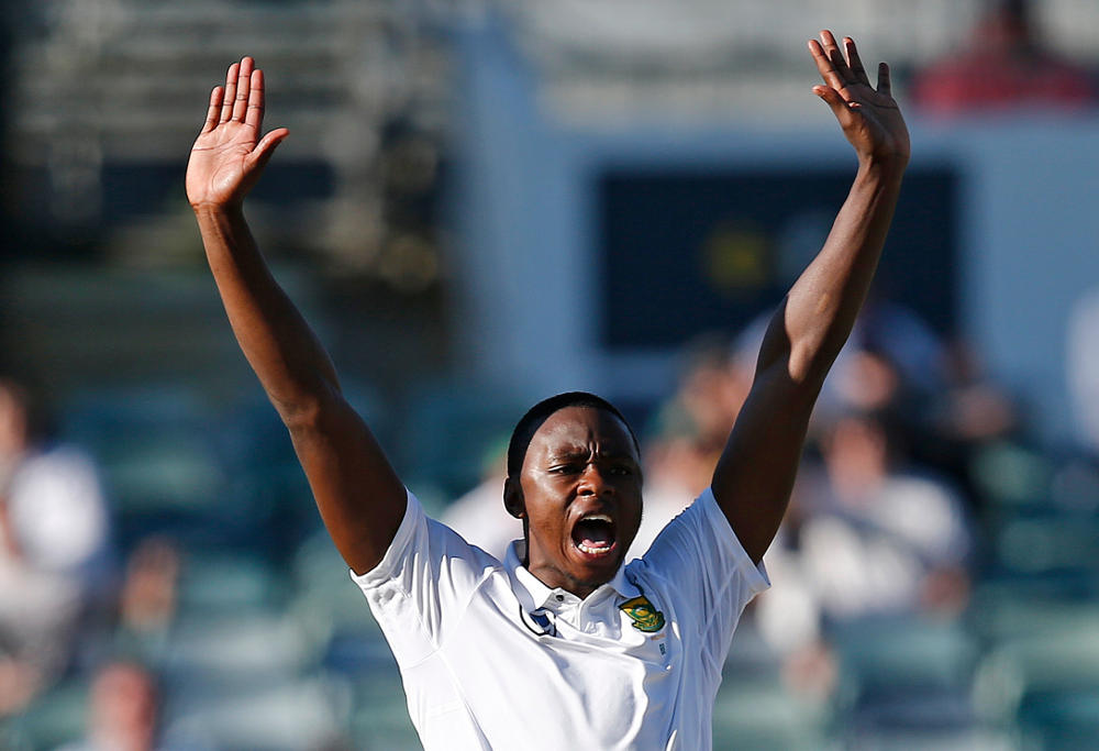 South Africa's Kagiso Rabada appeals