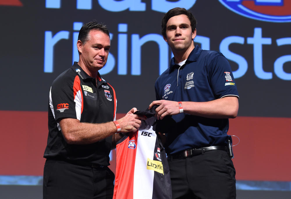 Paddy McCartin wtih Alan Richardson at the AFL Draft