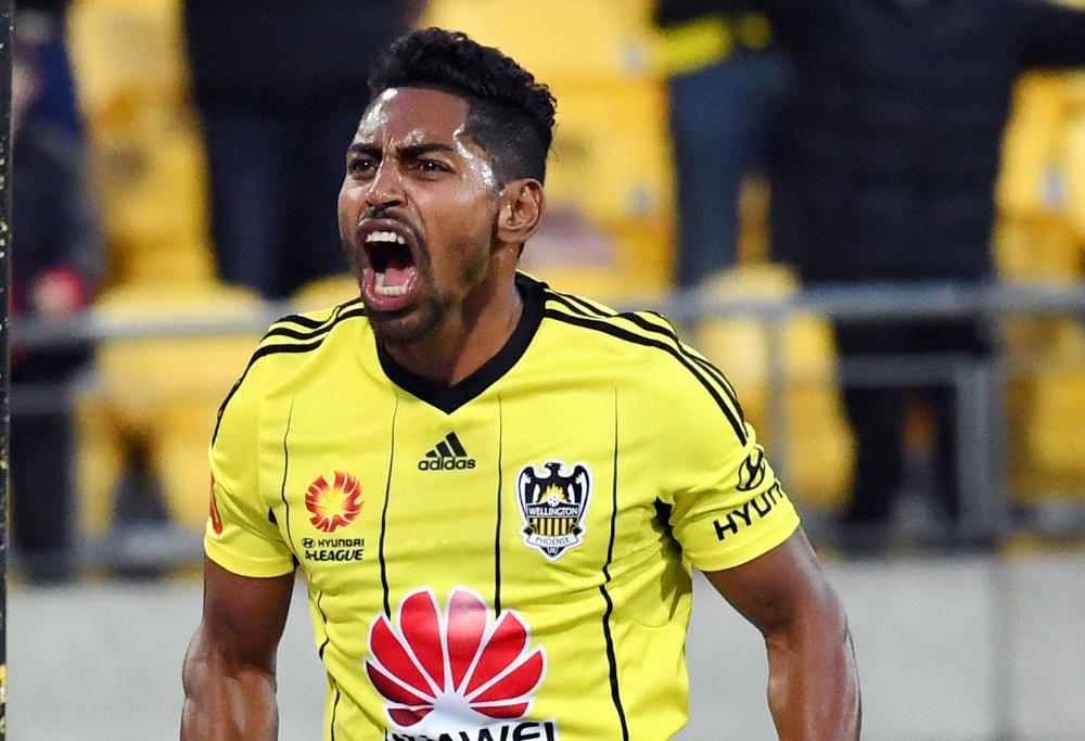 Roy Krishna of the Phoenix celebrates