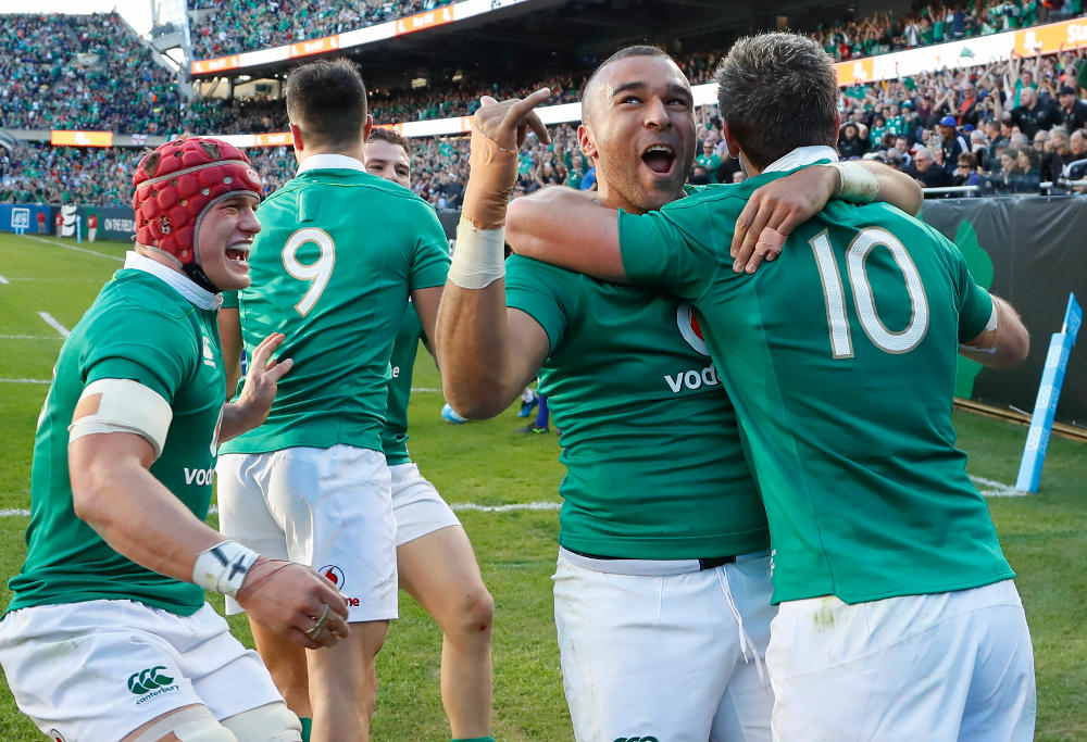 Ireland rugby union player Simon Zebo
