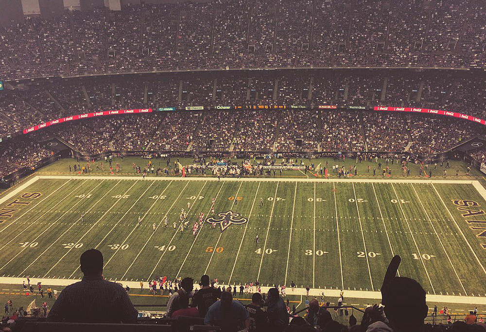 The view from the bleachers at a New Orleans Saints game. (Image: John Billiris)