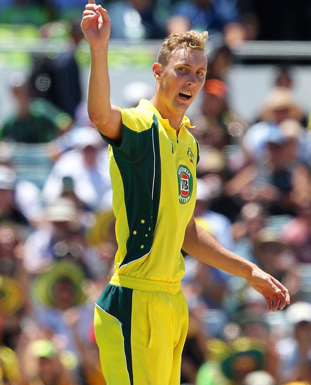 Billy Stanlake of Australia celebrates