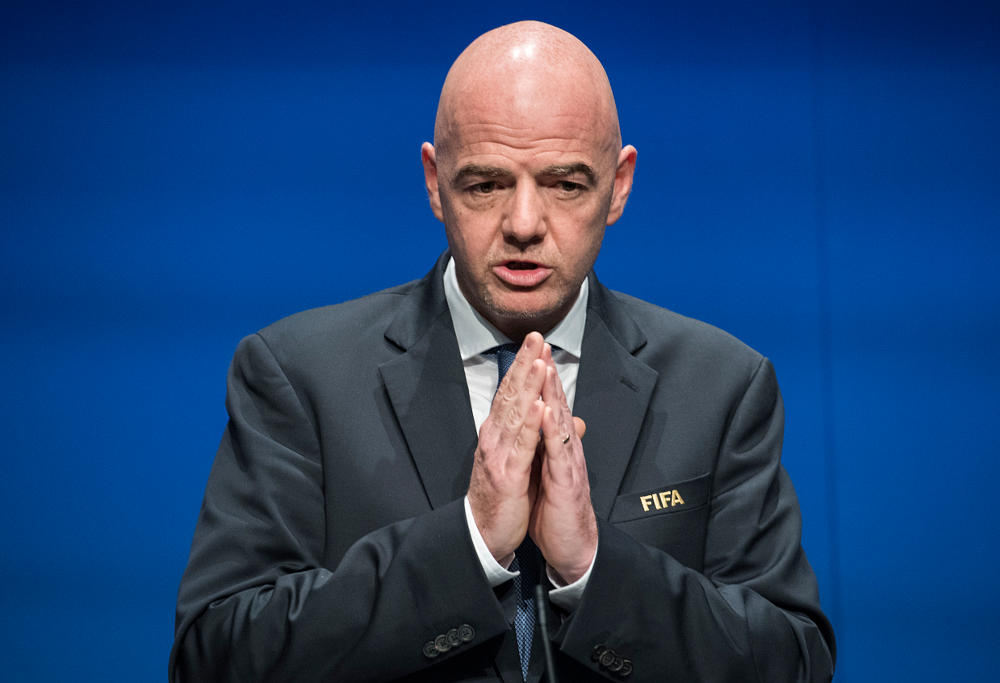 FIFA boss Gianni Infantino (Photo: AP)