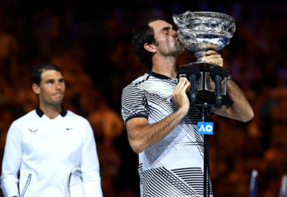 Coach: Federer not stressed as Nadal closes in on grand slam total