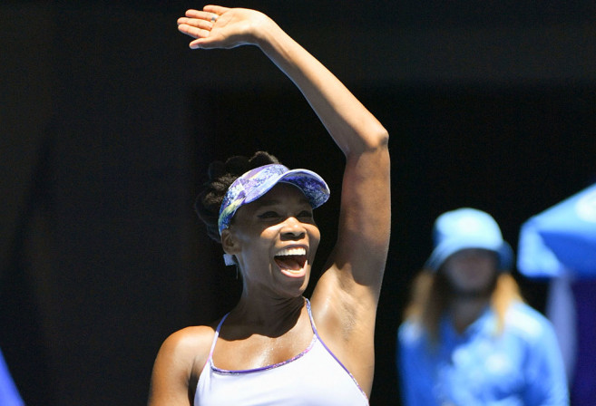 Venus Williams of the United States acknowledges the crowd