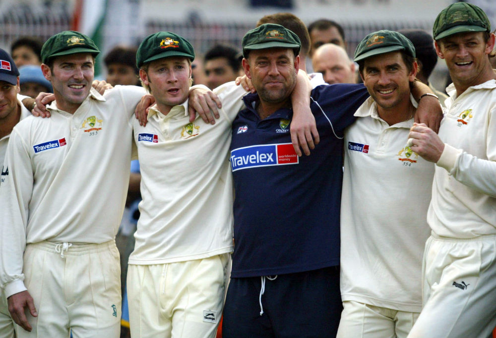 All smiles after Australia's historic Test series win in 2004