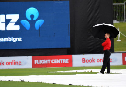 Napier washout: Cricket can be the most frustrating game on the planet