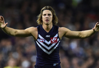 Would Nat Fyfe and Lachie Neale like to swap spots now?
