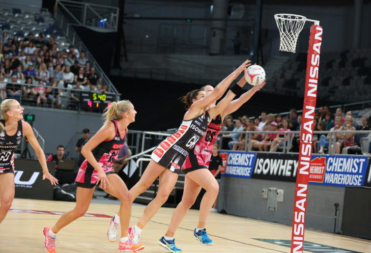 Micaela Wilson in action for the Collingwood Magpies