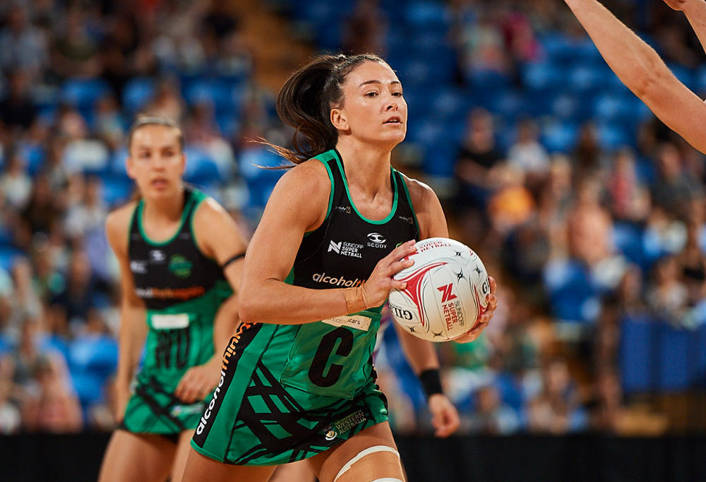 Verity Charles in action for the West Coast Fever