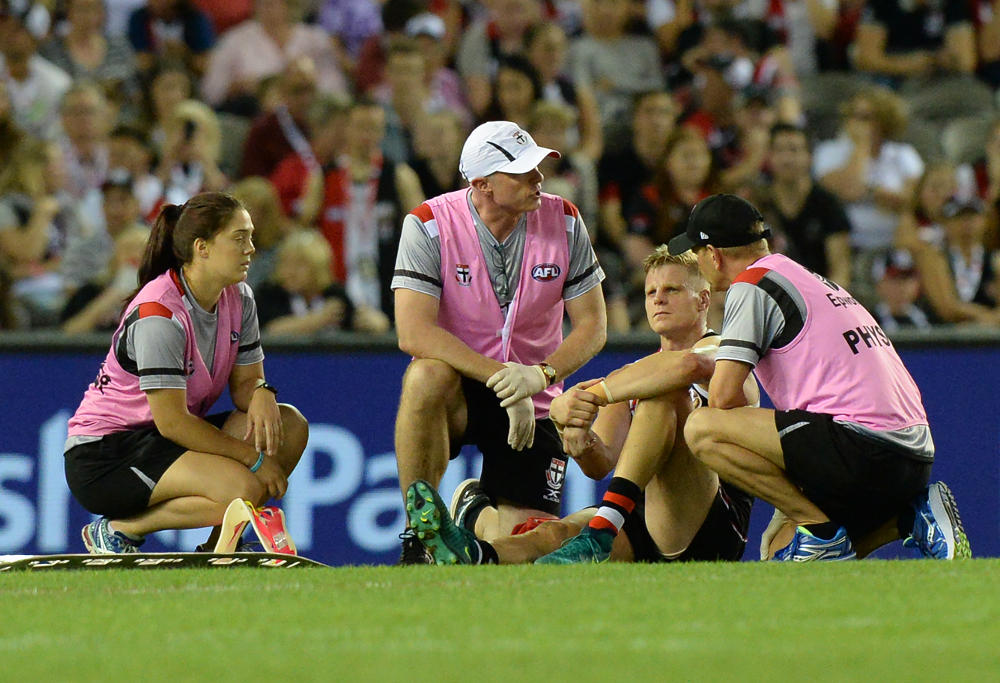 Nick Riewoldt injury St Kilda Saints AFL 2017