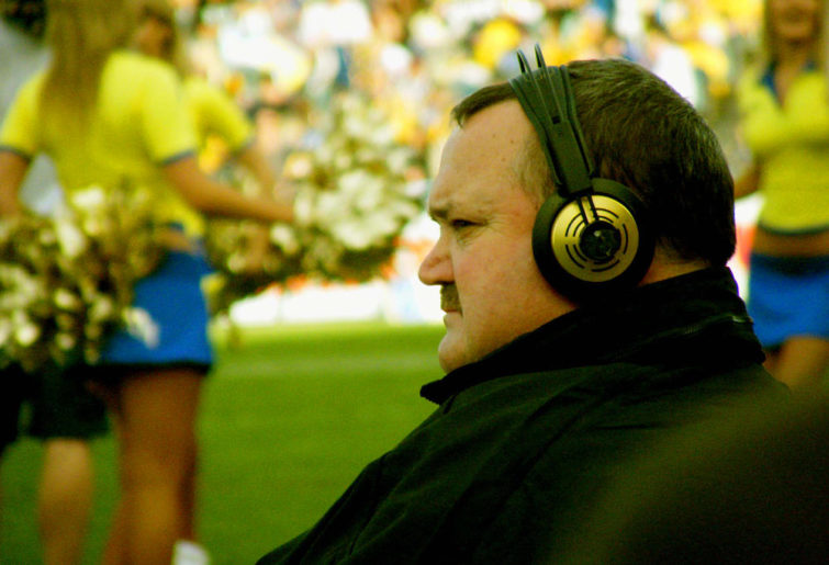 Daryl Brohman on the sidelines