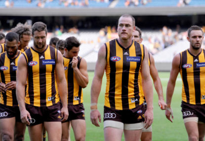 Jarryd Roughead stands down as Hawthorn skipper