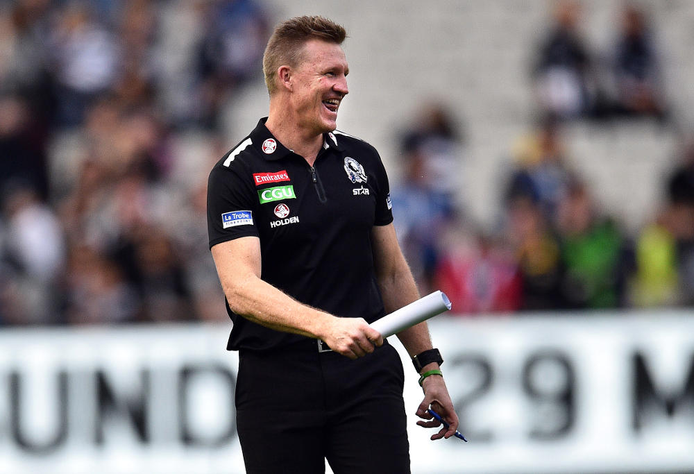 Nathan Buckley Collingwood Magpies AFL 2017